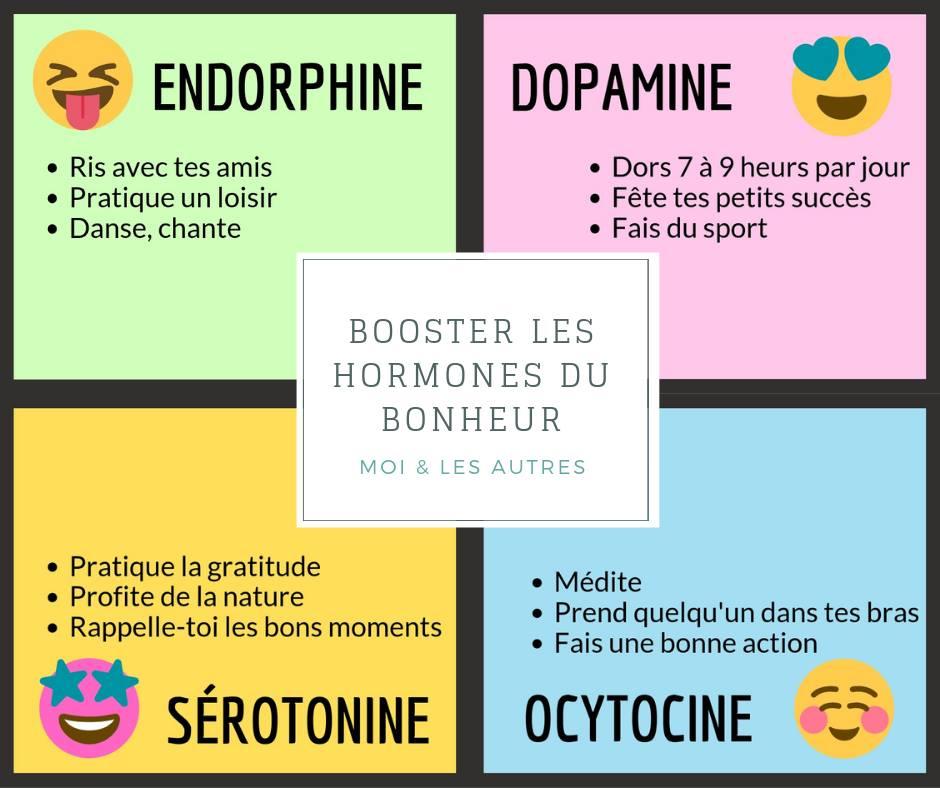 Hormones du bonheur pour booster sa résilience